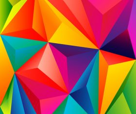 3D colors polygon shape background vector 03