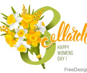 8 March and white background vector
