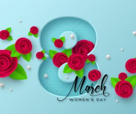 8 march women day card vectors 01