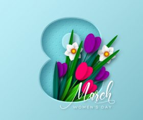 8 march women day card vectors 02