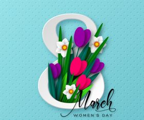 8 march women day card vectors 03