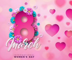 8 much women day with heart vector 01