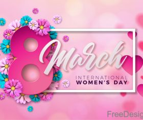 8 much women day with heart vector 02