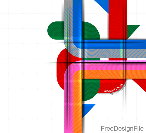 Abstract colors on white background vector