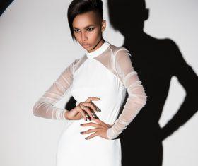 African-American girl posing Stock Photo 01