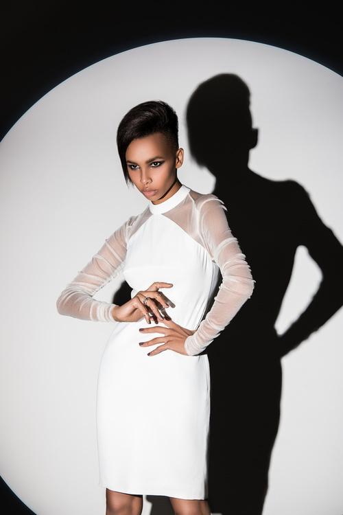 African American girl posing Stock Photo 01