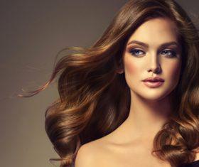 Beautiful woman face makeup artist applies eyeshadow Stock Photo 06