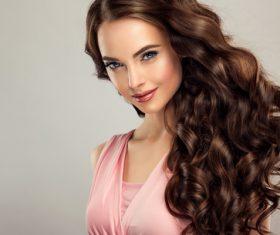Beautiful woman face makeup artist applies eyeshadow Stock Photo 07