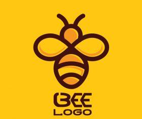 Bee logos creative design vectors 01