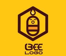 Bee logos creative design vectors 02