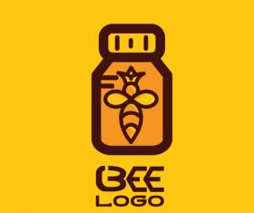Bee logos creative design vectors 03