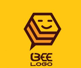 Bee logos creative design vectors 04