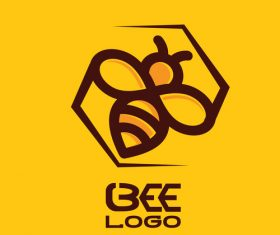 Bee logos creative design vectors 05