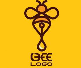 Bee logos creative design vectors 06