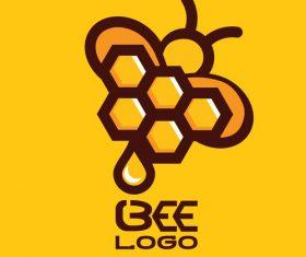 Bee logos creative design vectors 07