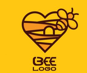 Bee logos creative design vectors 08