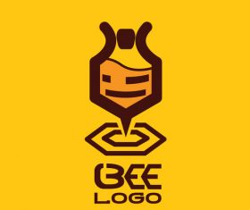 Bee logos creative design vectors 09