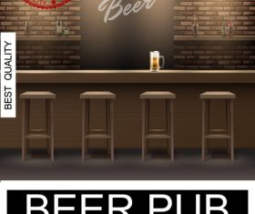 Beer pub creative poster vector
