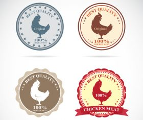 Best quality chicken meat stickers vector 01