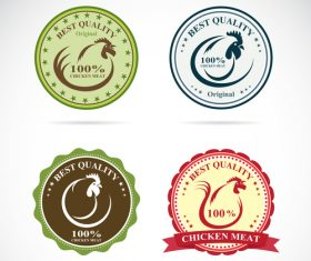 Best quality chicken meat stickers vector 02