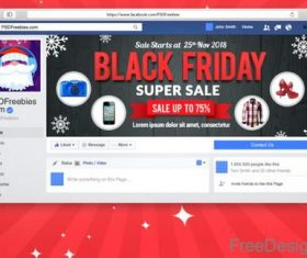 Black Friday Sale Facebook Cover PSD Template