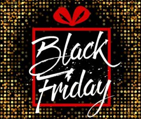 Black Friday sale with neon background vectors 01