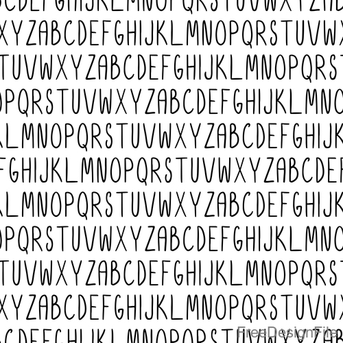Black alphabet seamless pattern vector 02