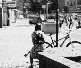 Black and white street photography Stock Photo 05
