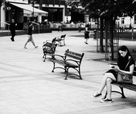 Black and white street photography Stock Photo 06