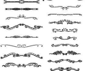 Black calligraphy oranments vector set 02