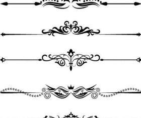 Black calligraphy oranments vector set 03