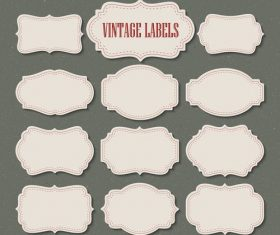 Blank vintage labels vectors set