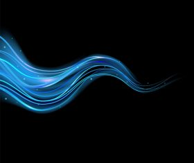 Blue light abstract effect vector 03