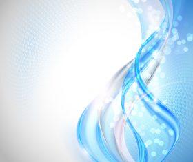 Blue transparent wave with halation background vector 01