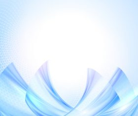 Blue wave with honeycomb background vector 09