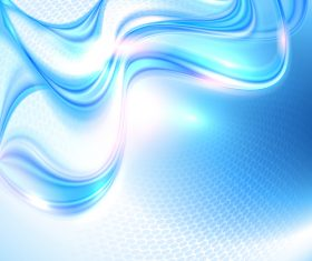 Blue wave with honeycomb background vector 14