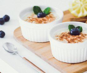 Blueberry yogurt Stock Photo