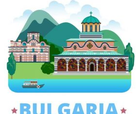 Bulgaria travel elements design vector