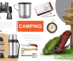 Camping creative design vector