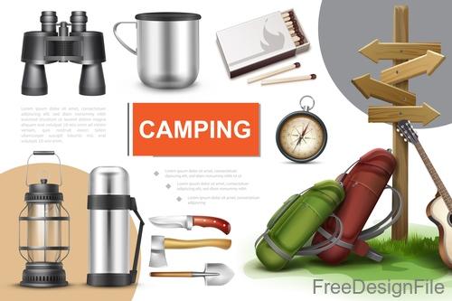 Camping creative design vector