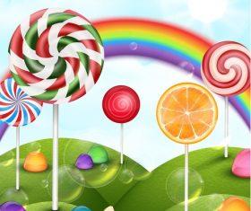 Candies with rainbow vectors 01