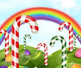 Candies with rainbow vectors 02