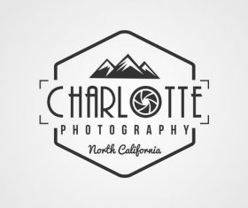 Charlotte photography Label design vector 05