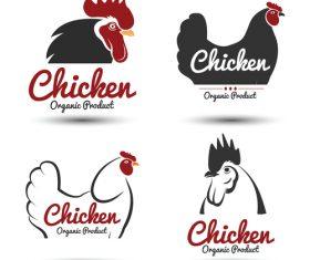Chicken logos vectors set