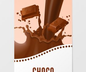 Chocolate milk vertical banner vector