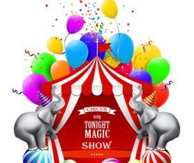 Circus entertainment program design vector 01