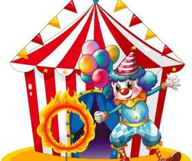 Circus entertainment program design vector 02