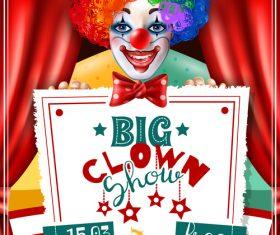 Clown circus poster vector