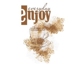 Coffee Stain background design vector 01