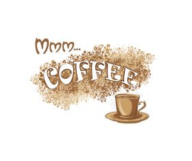 Coffee Stain background design vector 02